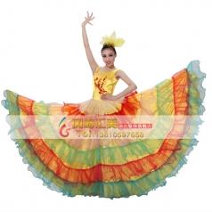 风格汇美 女现代伴舞开场舞大摆裙舞蹈服 大舞裙演出服定做