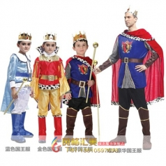 演出服儿童国王服装 cos化妆舞会服饰 成人国王王子服装衣服