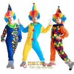 万圣节服装儿童舞台表演服节日演出服装小丑服装衣服儿童小丑服装