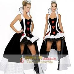 黑色恶毒皇后女王万圣节夜场女ds角色扮演制服派对舞会服装