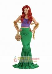 cosplay服装女舞会服装 美人鱼服装卡通人鱼公主表演服装 美人鱼公主裙