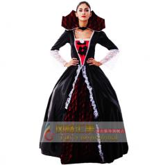 万圣节服装 吸血鬼女巫服皇后长裙女王后cosplay化妆舞会派对服装