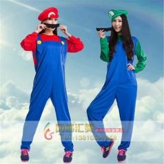 万圣节表演服装儿童节搞笑超级玛丽服装路易马里奥服装