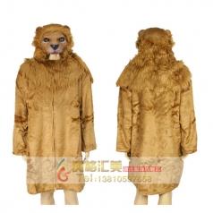 新年COSPLAY化妆舞会演出服装成人男动物厚款立体狮子头大衣
