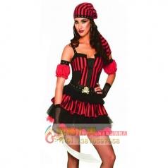 Cosplay化妆舞会演出服装角色扮演派对表演服饰二次元女海盗裙