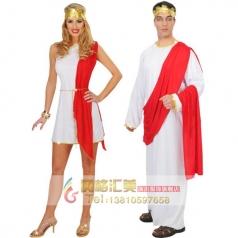 COSPLAY化妆舞会演出服装成人角色扮演服饰古罗马参议员服