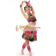 儿童民族,苗族舞蹈服装专业定制_风格汇美演出服饰