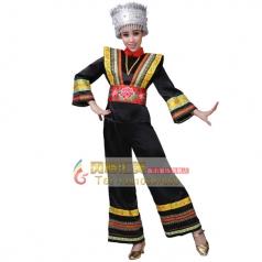 苗族舞蹈服装专业定制_风格汇美演出服饰