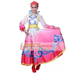 蒙古族服装大全专业演出服装批发工厂_风格汇美演出服饰