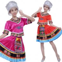 风格汇美苗族舞蹈服头饰 少数民族舞蹈演出服 民族服饰舞台服装
