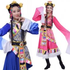 藏族舞蹈服装专业定制_风格汇美演出服饰