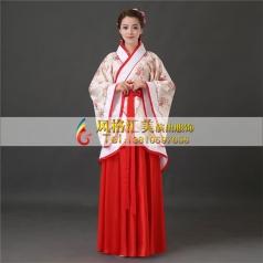 风格汇美古装汉服女古代服装演出服写真民族风曲裾改良唐装新娘装