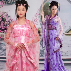 风格汇美女士唐朝古装演出服装定制古代演出表演服装演出服饰