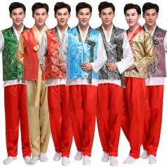 风格汇美男士韩服少数民族朝鲜族舞蹈演出服装影视表演服朝鲜服男