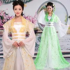 风格汇美古装女士服装定做表演服古装演出服厂家