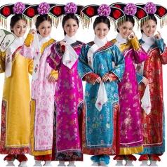风格汇美女士古装演出服厂家古代演出服装定做表演服