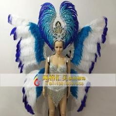 新款桑巴舞服装,狂欢节表演服装,巴西桑巴舞头饰定制专家_风格汇美演出服饰