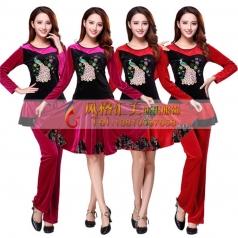 新款广场舞演出服,广场舞专用服装,广场舞服装定制工厂_风格汇美演出服饰