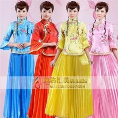 定制民国学生装女,民国风演出服装批发厂家-风格汇美演出服饰