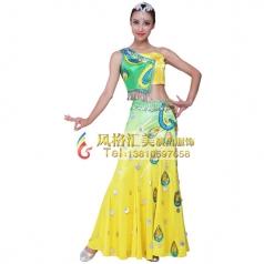 傣族舞蹈服装定做 傣族舞蹈服装定制专家_风格汇美演出服饰