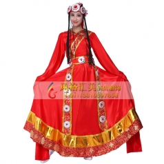 藏族舞蹈服装定做 藏族舞蹈服装定制专家_风格汇美演出服饰