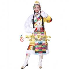 藏族舞蹈服装设计 藏族舞蹈演出服装定做专家_风格汇美演出服饰