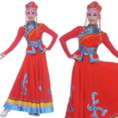 蒙古舞演出服 蒙古族演岀服定做专家_风格汇美演出服饰