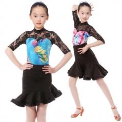 女式拉丁比赛服装舞台服定做厂家舞蹈服装_风格汇美演出服饰