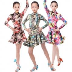 少儿拉丁舞蹈服装定做女式拉丁比赛服装定制_风格汇美演出服饰