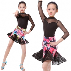 少儿拉丁舞台服定做表演服女拉丁服定做厂家_风格汇美演出服饰