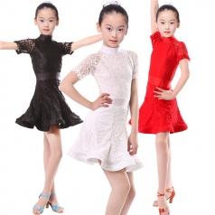 少儿拉丁舞蹈服定做舞台服装表演服装拉丁舞蹈服厂家_风格汇美演出服饰