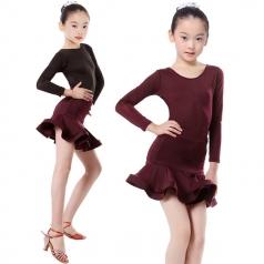 少儿拉丁舞蹈裙表演定制舞台服厂家演出服厂家_风格汇美演出服饰