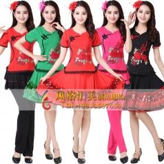 新款广场舞蹈服装定制套装裙_风格汇美演出服饰