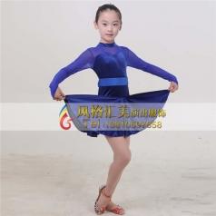 拉丁练功服装定做舞蹈服演出服定制_风格汇美演出服饰
