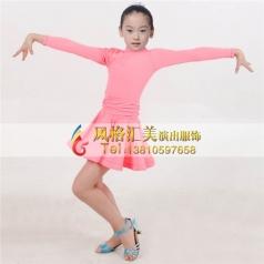 拉丁舞蹈服女式表演服舞裙定制_风格汇美演出服饰