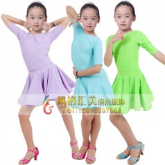 女式拉丁舞蹈裙表演服舞蹈裙定做_风格汇美演出服饰