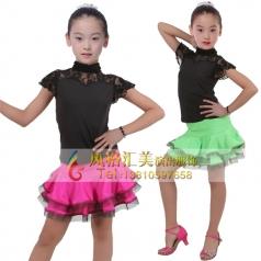 女式拉丁舞蹈裙定做表演服厂家_风格汇美演出服饰