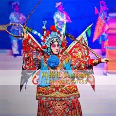 舞台戏曲女靠表演服饰演出服定做舞台剧演出服_风格汇美