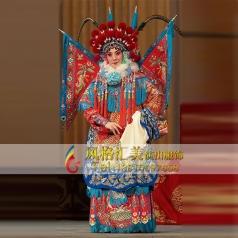 红蟒女靠戏剧表演舞台演出红蟒戏服定做设计_风格汇美