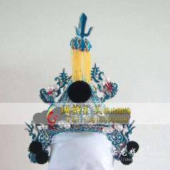 戏剧头盔纱帽表演头饰定制设计演出_风格汇美