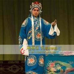 京剧戏曲男褶子服饰舞台服饰定做表演服男褶子表演舞台服装_风格汇美