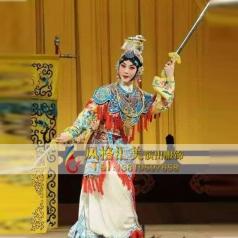 京剧戏剧女靠鱼鳞恺表演演出舞台服设计_风格汇美