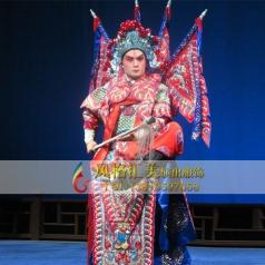 戏服男靠舞台表演服红戏服设计表演服定做舞台演出_风格汇美