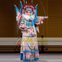 戏剧粉女靠戏服表演服舞台演出戏剧戏服女_风格汇美