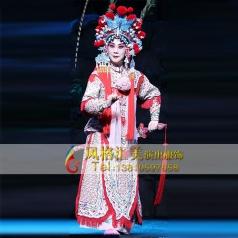 戏曲改良舞台靠女软靠服饰戏剧女舞台服定制表演服设计_风格汇美