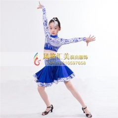 少儿拉丁舞蹈服装表演服装舞台服定做_风格汇美演出服饰