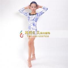 少儿拉丁舞蹈服装定做表演服厂家_风格汇美演出服饰