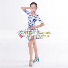 儿童舞蹈拉丁服装表演服定做_风格汇美演出服饰