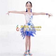 少儿拉丁舞台服装定做演出服装_风格汇美演出服饰