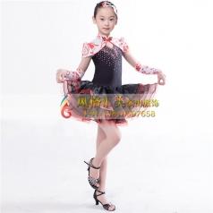 拉丁舞蹈表演服装定做演出服_风格汇美演出服饰